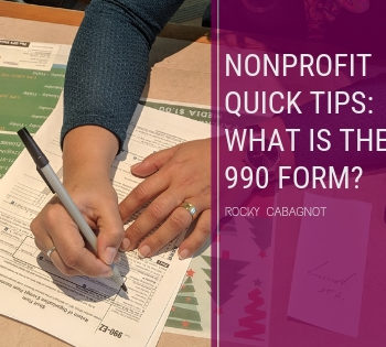 Nonprofit Quick Tips_ What is the 990 Form