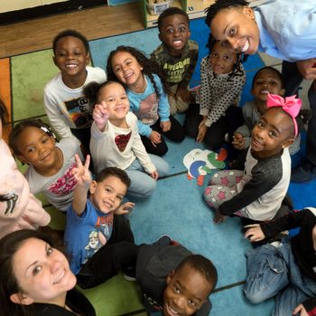 Children and teach in circle time