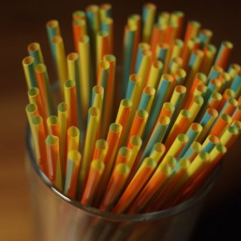colorful straws in a glass
