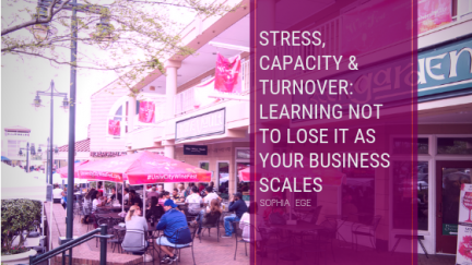 Stress, Capacity & Turnover