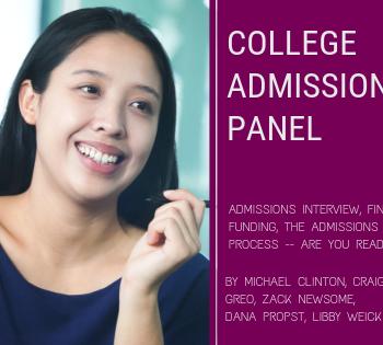 college admissions panel