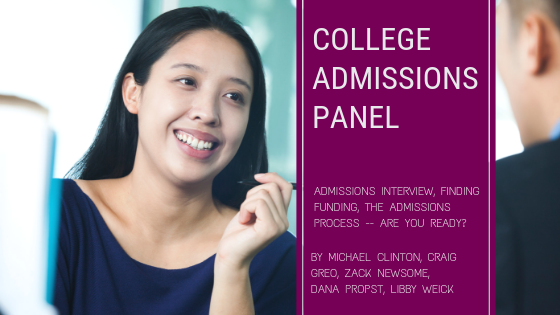 college admissions panel