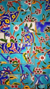 Collage of colorful tiles