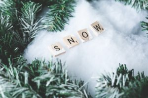 Letters spelling out the word snow
