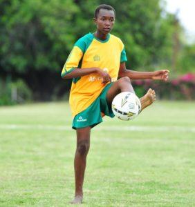 Teen player soccer