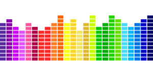 colorful sound levels
