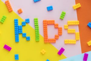 Legos spell out kids