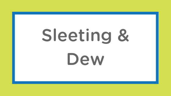 sleeting dew