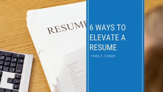 elevate a resume