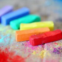 colorful sidewalk chalk