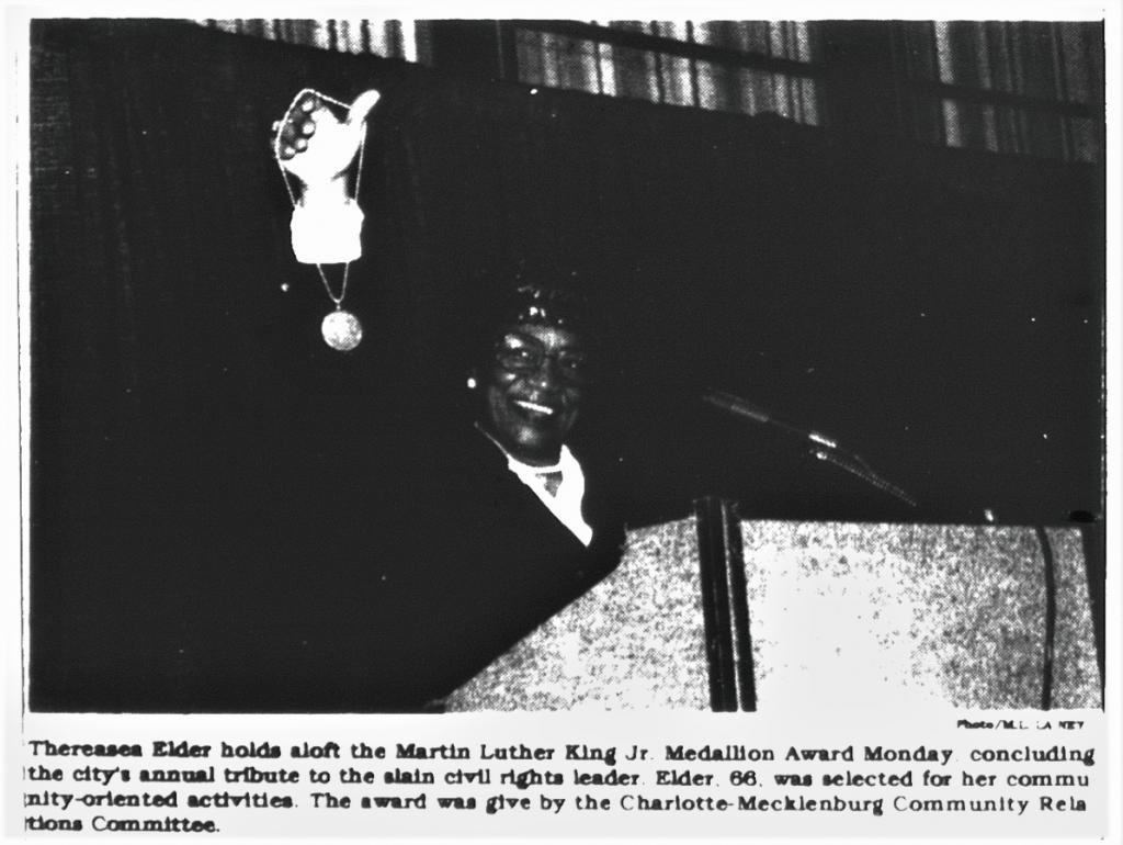 TD Elder accepting the Martin Luther King Jr. Medallion Award