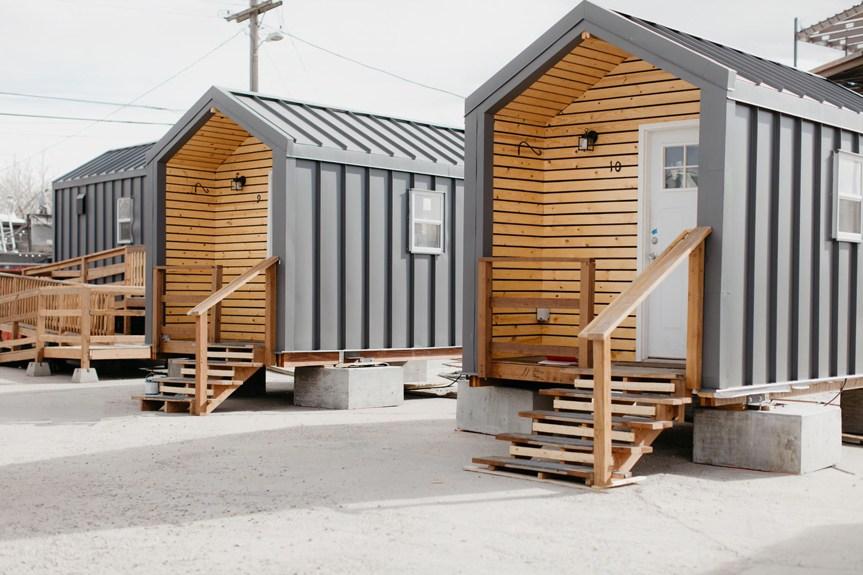 three Denver tiny homes