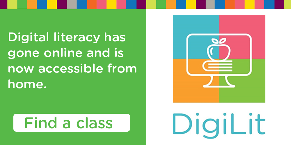 Digital Literacy classes online with the Library.